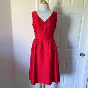 Kate Spade Red Heritage Silk Cocktail Dress